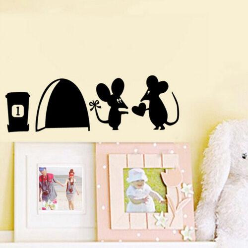 Mouse Hole Vinyl Mural Wall Art Sticker Decals Kids Nursery Room Home Decor ZT