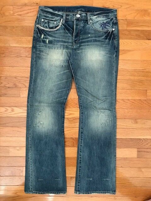 7fc77252 DSQUARED FAITH BOOT CUT LOWRISE JEANS VERY RARE Size 52 (34 waist, 33 inseam