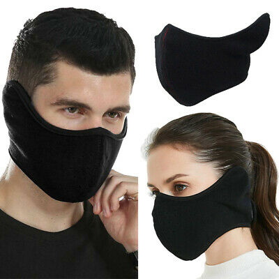 Unisex Thermal Fleece Wind Proof Ski Half Face Mask Motorcycle Ear Muff Warmer Ebay