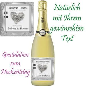 Flaschenetikett Blecherne Hochzeit 8 Hochzeitstag Glanzend 2