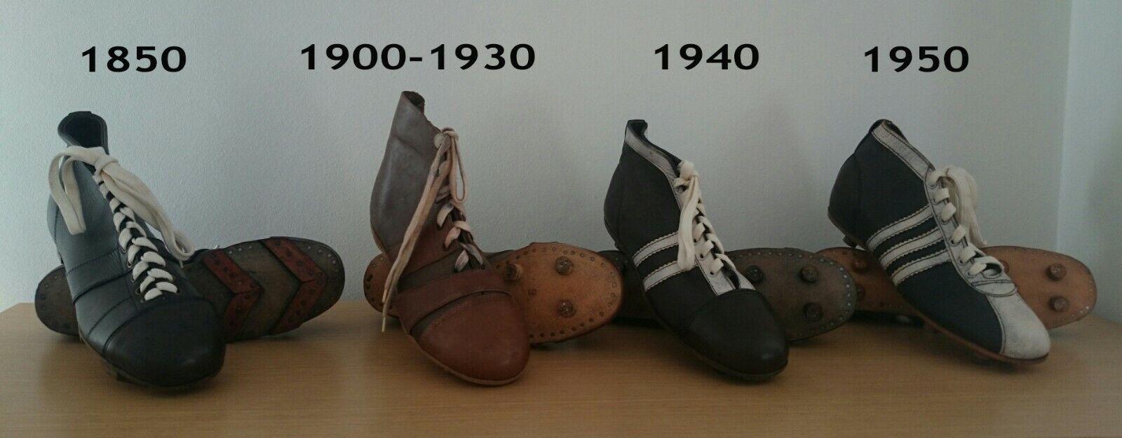 Retro BALONPÍE FÚTBOL botas ZAPATOS Colección 1850-1950
