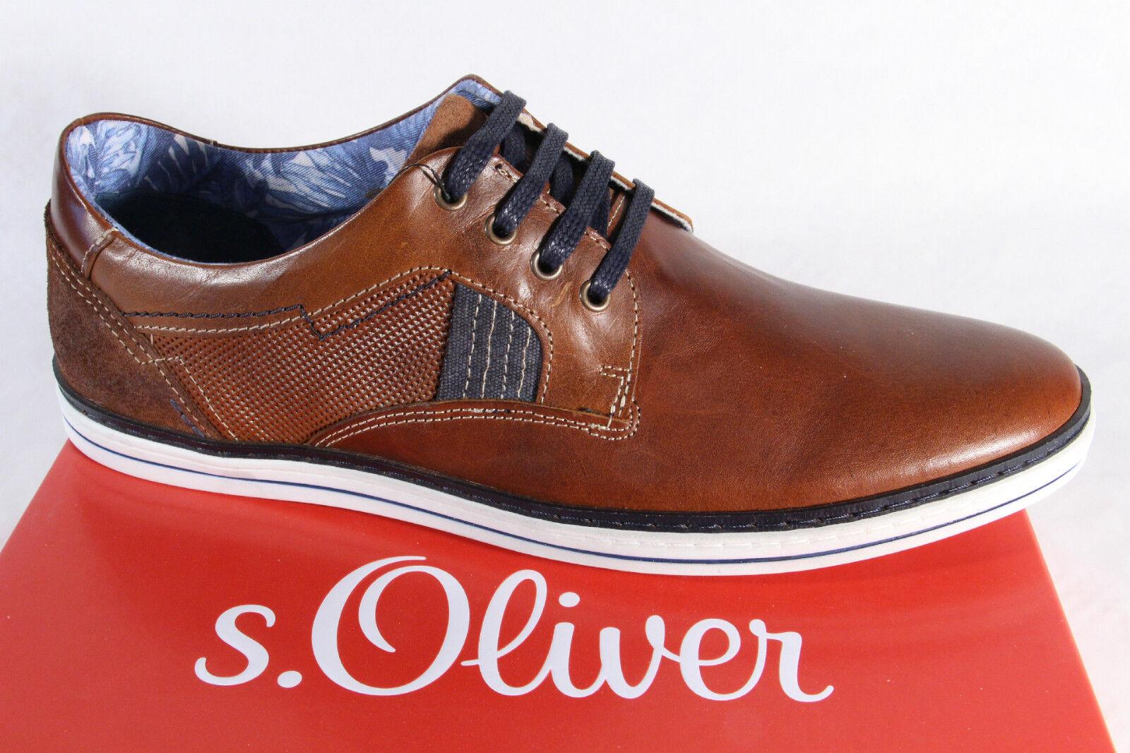 S.Oliver Herren Schnürschuh Sneaker braun, Echtleder,  Gummisohle,13201  NEU!!