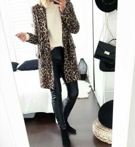 Giacca Print doppiopetto Xs Taglia Leopard Zara EqSxvv