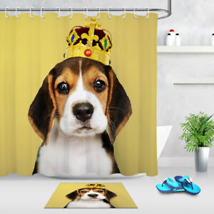 Image Is Loading Waterproof Polyester Fabric Shower Curtain Liner Cute Beagle