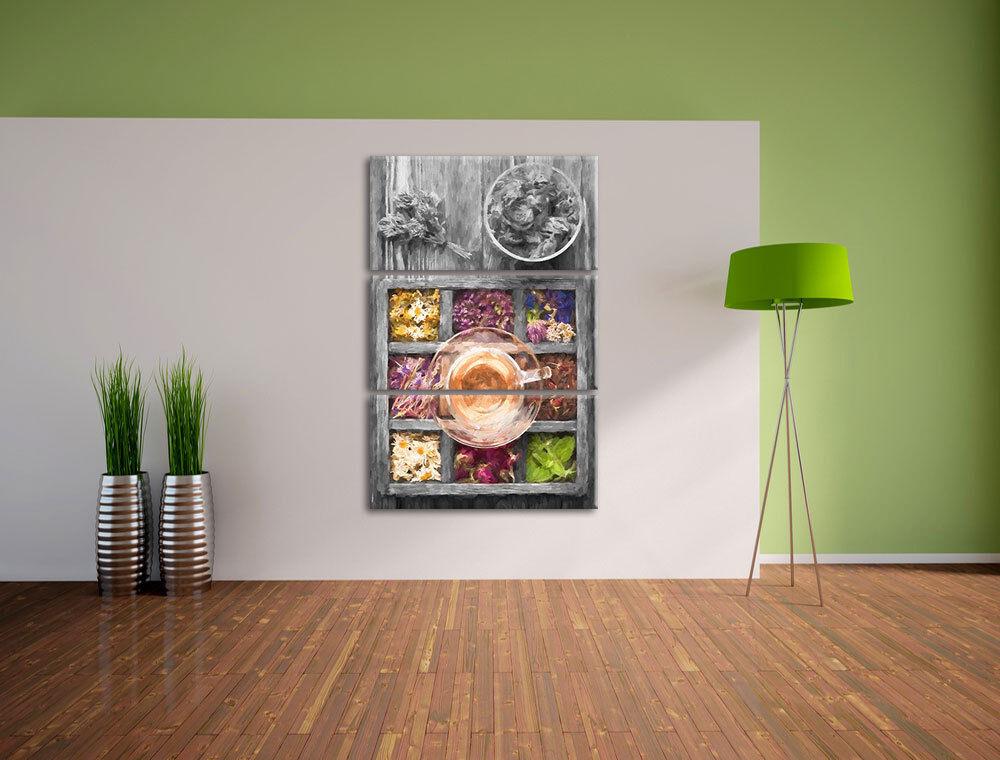 Viejo Teebox 3-Teiler Foto en Lienzo Decoración de de Decoración Pared Impresión Artística a23fe5