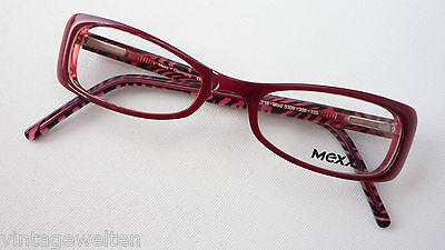 Mexx Occhiali Rossa Versione Nuovo Occhiali Con Sottili Lenti Telaio Da Donna Misura S-mostra Il Titolo Originale
