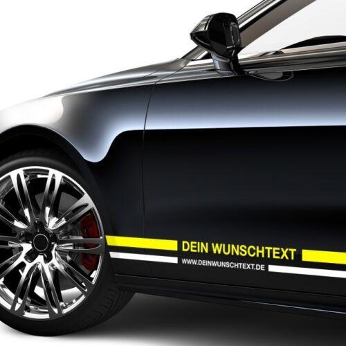 Wohnmobil,Modellbau Gold Weiß Silber Motorrad Zierstreifen mit Wunschtext Auto