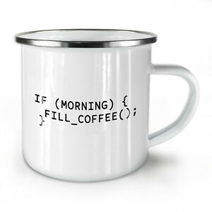 Programmer Slogan NEW Enamel Tea Mug 10 oz | Wellcoda