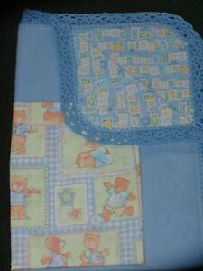 BASSINET SHEET// COTTON //VICTORIAN PRINTS OF TEDDY BEARS IN TWO COLORS