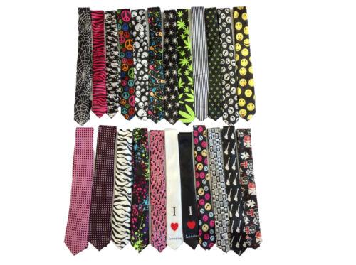 Herrenmode Krawatten Totenköpfe Smileys Design Auswählen Ganja Blatt Usw