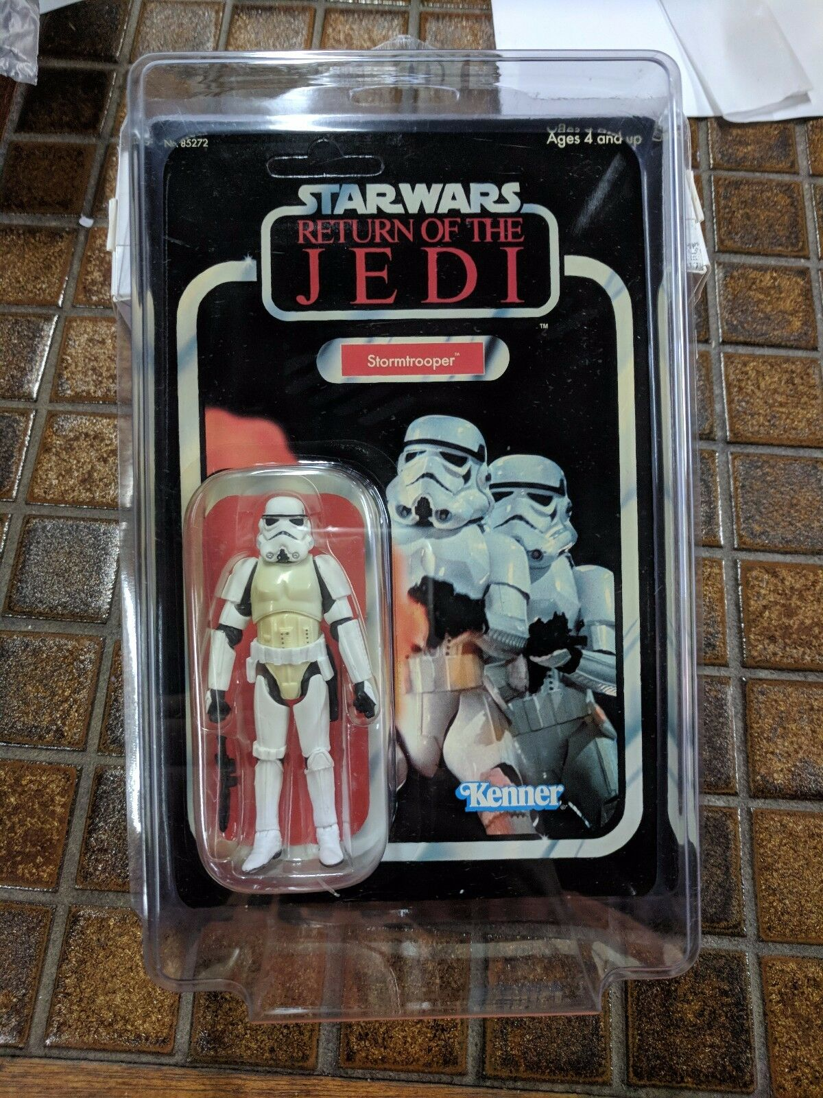 STAR WARS ROTJ TRILOGY COLLECTION 2004 STORMTROOPER UNPUNCHED STAR CASE VARIANT