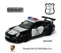 Kinsmart - Porsche 911 Gt3 Rs Police Diecast Car 1:36 - Scale 5352dp