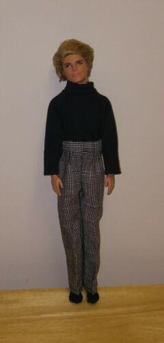 "12/""  Ken Doll Clothing   Tweed Pants and Black Shirt set"