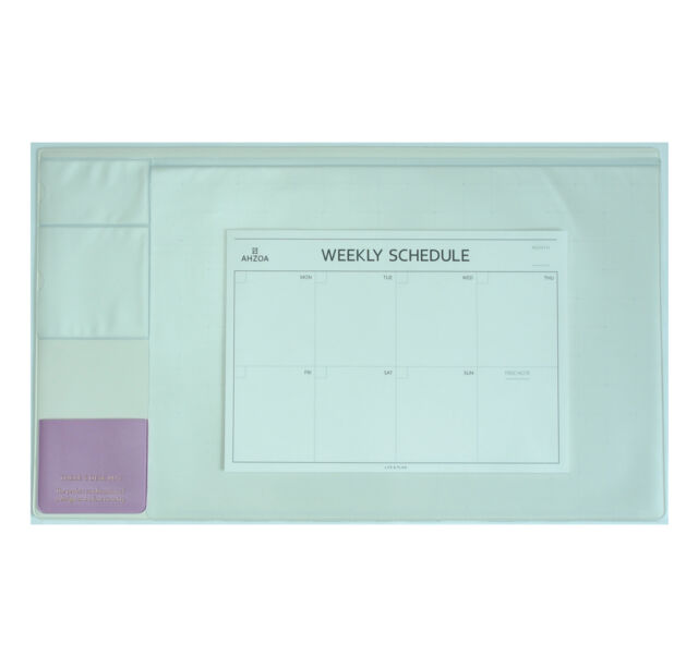 "10day Fast Shipping, Basic Ivory Desk Pad 22x13"" with Weekly Schedulers"