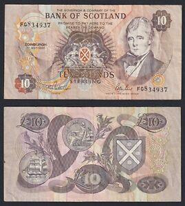Schottland 10 Pfund 1992 BB / VF A-01