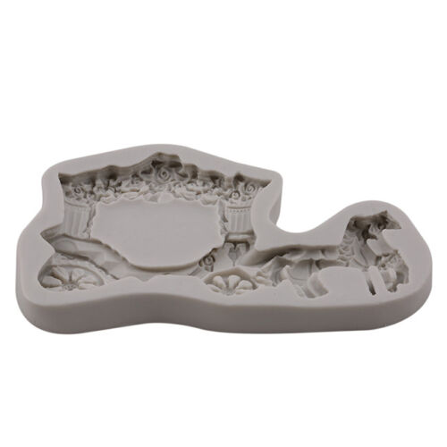 Horse Carriage Silicone Fondant Cake Mold Chocolate Baking Craft Mould S