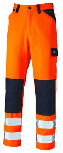 Dickies Pantaloni Tutti I Giorni Da Uomo Hi VIS pantaloni lavoro industriale Resistente SA24//7R