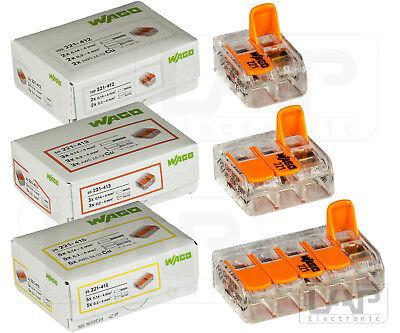 40 Stück WAGO Klemmen Verbindungsklemme Dosenklemme Serie 222-415 bis 4mm²