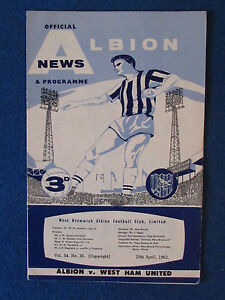 West-Bromwich-Albion-v-West-Ham-United-20-4-63-Programme