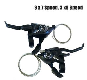 1*Für Shimano ST-EF51 GEAR Schalt-//Bremshebel 3x7//8 Speed oder Set Black V-Brake