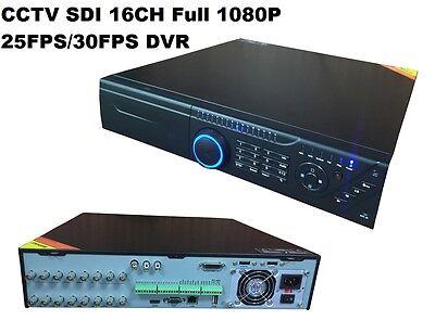 CCTV HD-SDI Full 1080P 16CH Real-time 25FPS Support 8*SATA DVR For HD-SDI Camera
