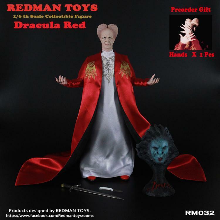 rödMAN leksaker 1  6 röd Ver.Dracula Figur RM032 12''Colleble Doll Set