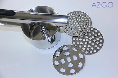 NEW ARRIVAL Stainless Steel Potato Ricer Masher Press with 3 blades Strong
