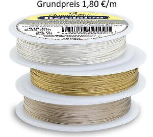 Beadalon Schmuckdraht 19 Strang 30 ft/9,2 m Metallic Color (Grundpreis 1,80 €/m)