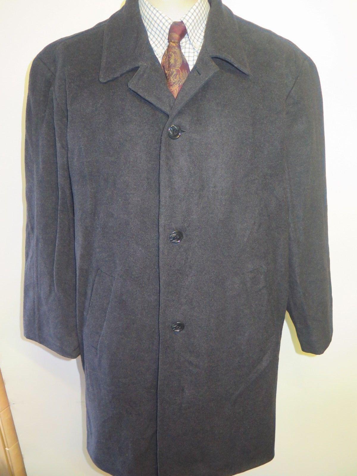 Genuine Ralph Lauren Charcoal Cashmere Wool Raincoat Coat Größe L 42 L Euro 52 L
