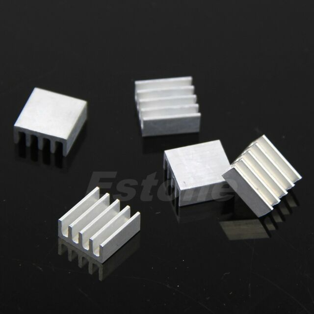 High Quality 8.8x8.8x5mm Aluminum Heat Sink 5Pcs For LED Power Memory Chip IC