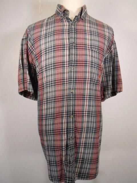 Nice Men's XL Wrangler 20X Twenty X Multi-Color Plaid SS Button Down Shirt GUC