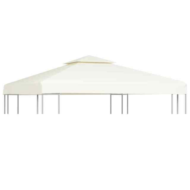 10 ft x 10 ft Canopy Replacement Gazebo Top Cover Patio 1-Tier Beige Green Red