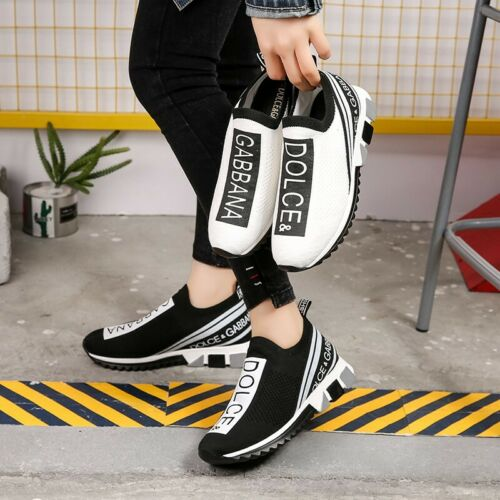 Womens Mens Designer Style Knit Speed Sock Runner Shoes Trainers Sneakers UK3-10