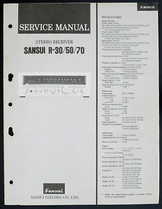 Sansui-R-30-R-50-R-70-ORIGINAL-STEREO-RECEIVER-SERVICE-MANUAL-Diagram-O152