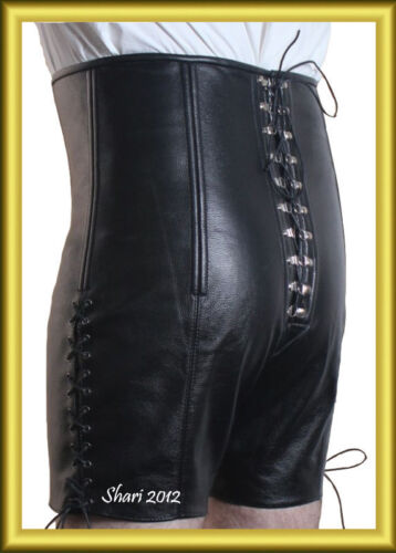 New Men Corset shorts High Quality  NAPPA Leather