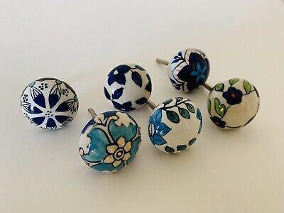 Pulls Set Drawer Door Handles 100, Hand Painted Round Cabinet Knobs