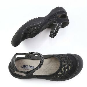JBU-Jambu-Wildflower-Black-Floral-Vegan-Leather-Mary-Janes-Flats-Shoes-Womens-8