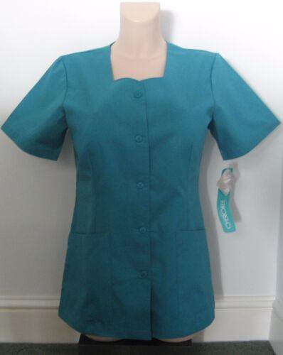 CHEROKEE TEAL Scrubs Hospital Dentist Top Tunic Uniform 2 Pockets XS//S XL L