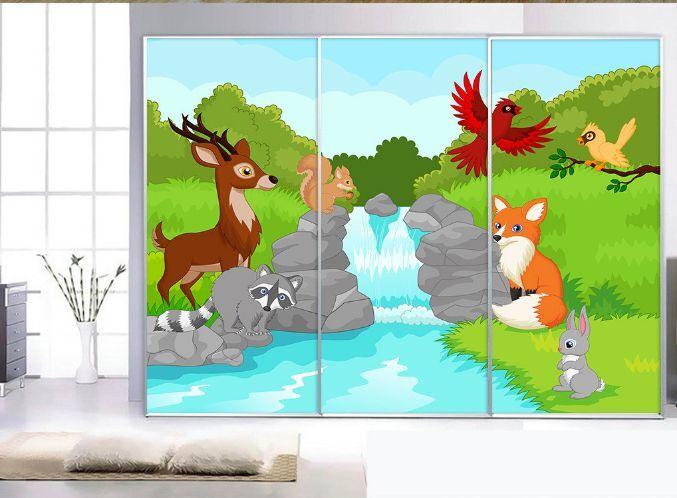 3D Tier Fluss 4657 Fototapeten Wandbild Fototapete BildTapete Familie DE