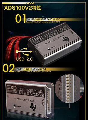 TI ARM/DSP Emulator XDS100 V2 JTAG debugger programmer 20PIN/14PIN