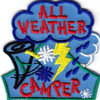 """all Weather Camper"" - Iron On Embroidered Patch-trip, Vacation, Camper,fun"