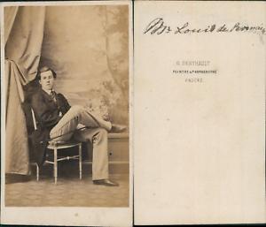 Berthault-Angers-Monsieur-Louis-de-Bornain-circa-1860-CDV-vintage-albumen-car