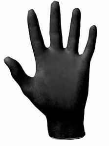Sas Safety 66518 Raven Black 6mil Powder-free Nitrile Gloves, Large [pack Of