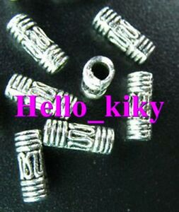 200Pcs-Tibetan-silver-wire-curved-tube-spacer-bead-A27