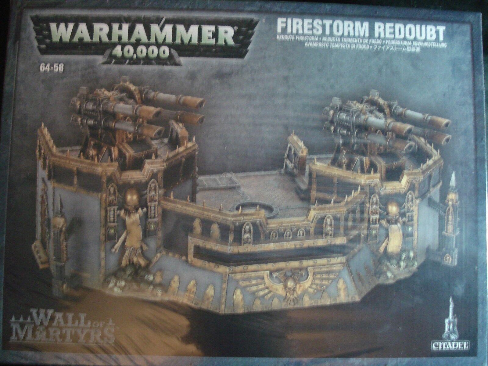 Warhammer 40K escenografía terreno Pared de mártires Firestorm reducto Nueva Sellada En Caja