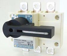 SOCOMEC Sirco 160A Lasttrennschalter Switch Disconnector Ue 415V Ie 160A 50/60Hz