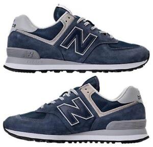 NEW BALANCE 574 MEN s SUEDE ENCAP CASUAL BLUE IRIS AUTHENTIC NEW IN ... a094e9e2b349