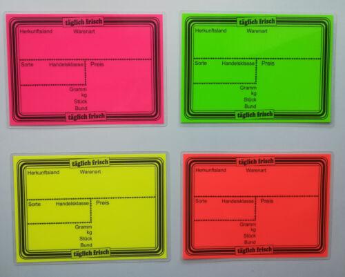 Preisaufsteller 10 Preisschilder laminiert fr Obst & Gemse ca ...