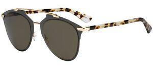 779864da6c2 Image is loading Christian-Dior-REFLECTED-grey-gold-light-havana-brown-