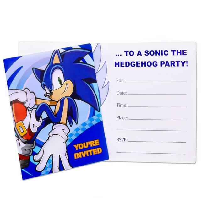 Sonic The Hedgehog Personalized Birthday Invitations For Sale Online Ebay